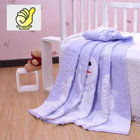 New 2014 Baby Products 100% cotton Baby Kids Blanket Swaddle Bath towel with snowmen, Jacquard towel--Light Purple color