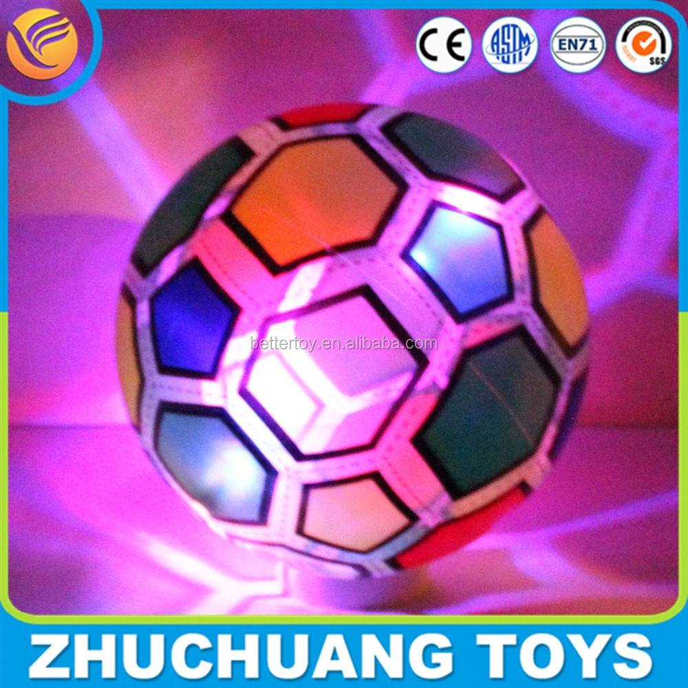 led light colorful inflatable print soccer ball