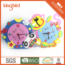 Promotional Non-toxic Children EVA Foam Craft DIY Clock Kit