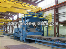 2012 hot sale chinese QXY Roller Bed Type Shot Blasting Machine