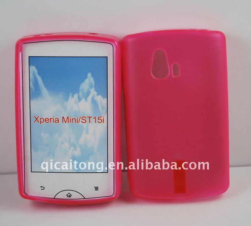 mobilephone tpu case for ST15i xperia mini, waterproof phone case