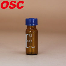 2ml amber vial HPLC vial with label filling lines