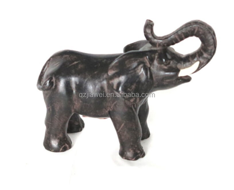 Resin large size black elephant statues