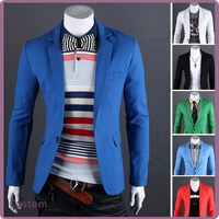 2017 Latest Fashion Western Formal Wear For Men Six Color Casual Slim fit One Button Suit Blazer Coat Jackets