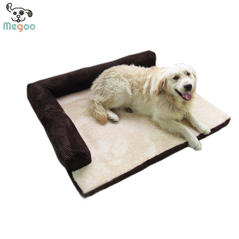 Hand Made Dog Sofa Bed Foam Padded Corduroy Dog Bed For Large Breed Dog
