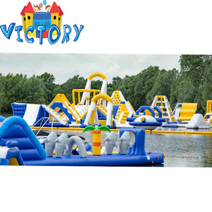 Inflatable white and blue yellow Floating Water Park/Inflatable Sea Platform/Inflatable Lake Park For Sale