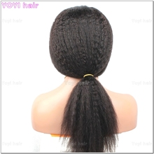 Cheap afro kinky straight mongolian virgin human hair wigs for black women Virgin Hair Full Lace Wigs