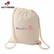 ECO Small Cotton Drawstring Bag