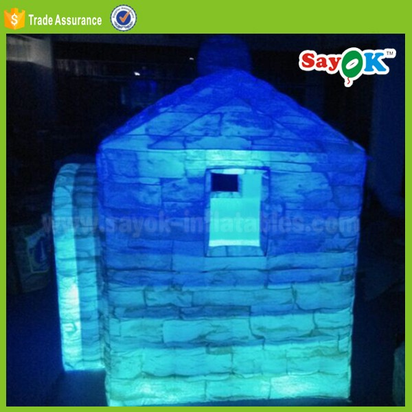 gaint used outdoor camping igloo lawn lighting cabin tent with rooms for kids