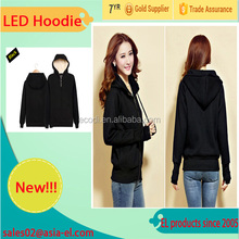 Eyecatching! Wholesale LED flash hoodie/EL wire hoodie/Light up hoodie