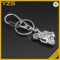 custom metal 3d motorcycle stainless steel keychain
