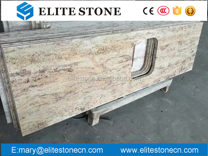 Polished yellow granite slab Orlando gold granite slab to counter top