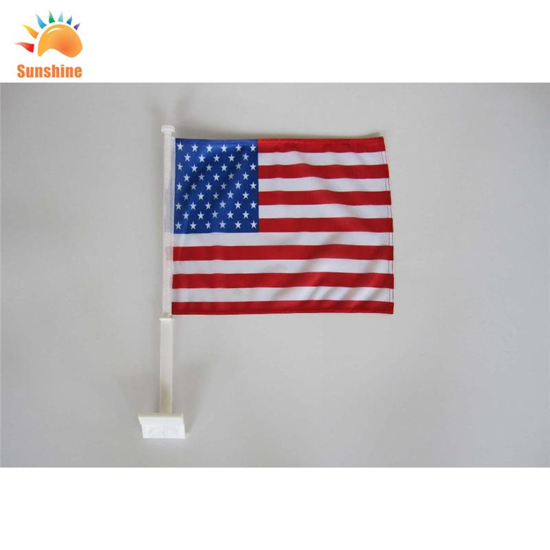 car flag customzied flag cheap price spinning printed hand waving