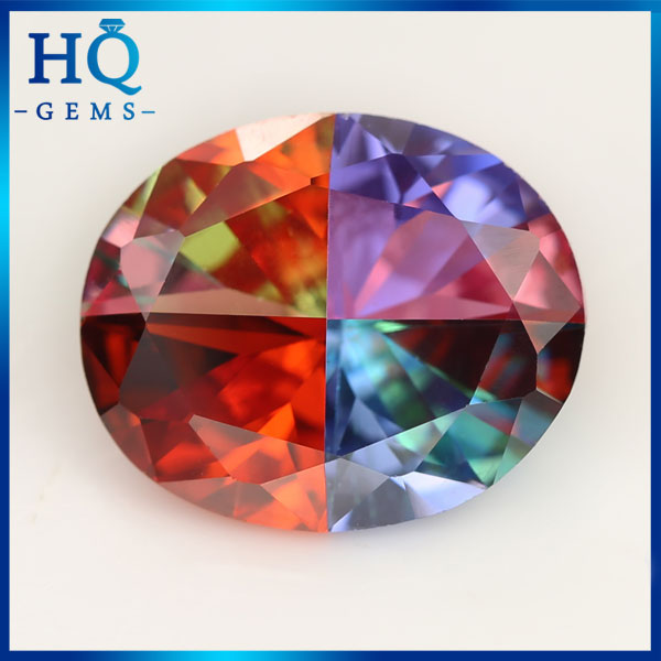 Factory sell directly lab created multicolored CZ Gems for jewelry
