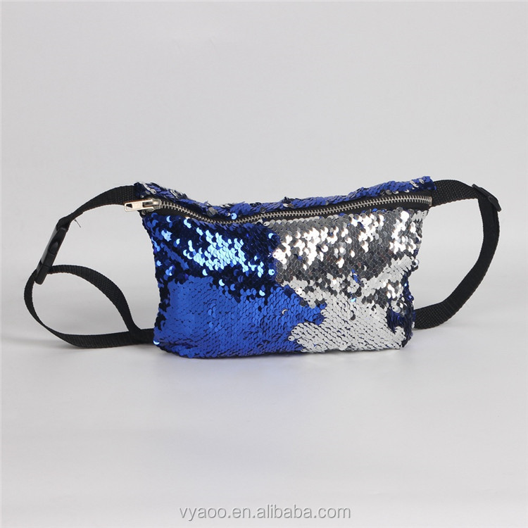 2017 Wholesale ladies Mermaid sequins Pockets cosmetic bag