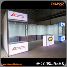 Aluminium Profile Fabric Printing Exhibition Booth And Walls Display Stand