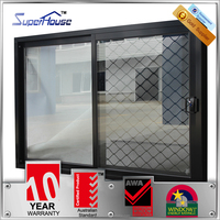 Australia AS2047 standard double glazed safety window with security grille