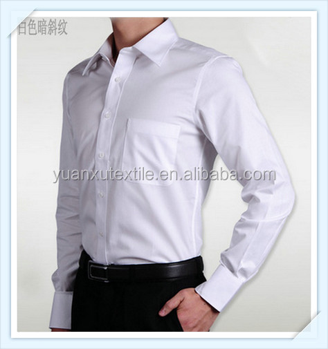 OEM classic long sleeve shirt big size for men white color, cotton 100%