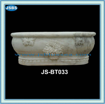 hand carved natural stone deep small bathtub