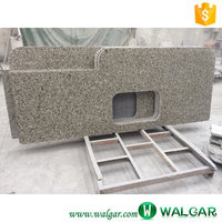 natural stone Autumn Gold granite top kitchen table