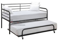 Hot Selling Metal Iron Trundle Daybeds Single Bed with Pull Out Bed for Sale Indian Daybed