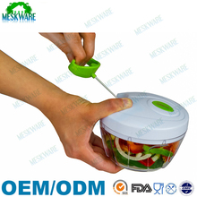 Powerful hand held manual food chopper, vegetable chopper