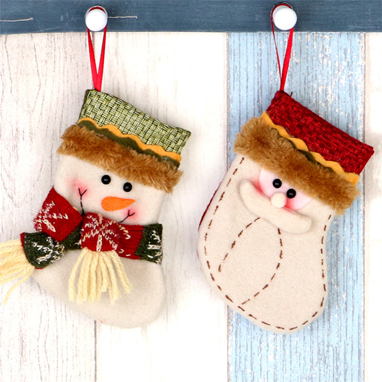 Good selling christmas tree hanging decoration candy gift sock