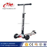 CE approved new cheap kids plastic scooter/baby smart kids scooter/mini skate scooter with 3 wheels