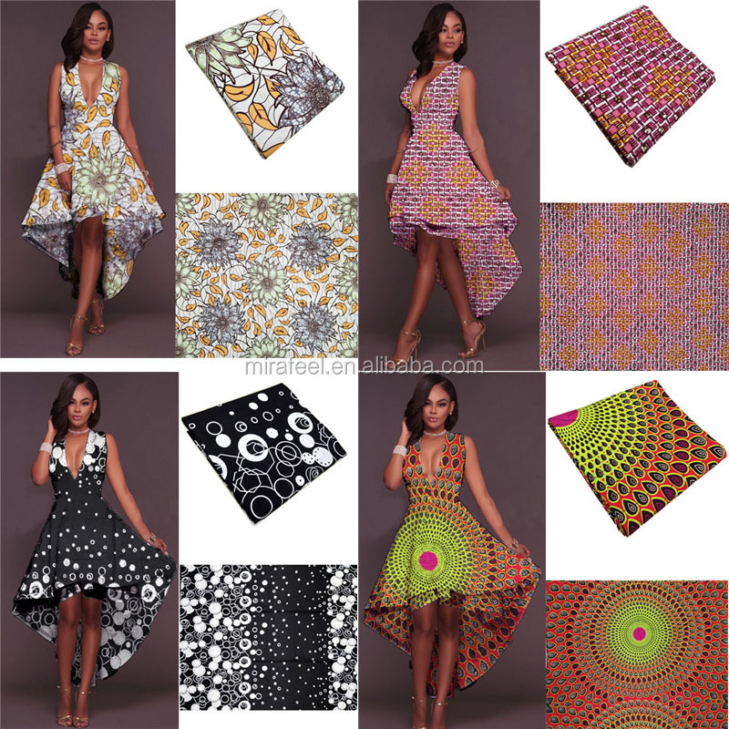 2017 lady custom hot selling high quality nice print african wax prints fabric