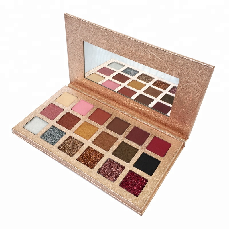 18 Colors Matte Shimmer Pressed Eyeshadow Powder Wholesale Pigmented Eye Shadow <strong>Cosmetics</strong> Palette