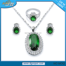 Fashion african jewellery jewelry set dulhan necklace and earring sets with top grade cz stones