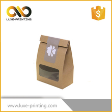 Chinese manufacturer wholesale brown kraft paper bag with window