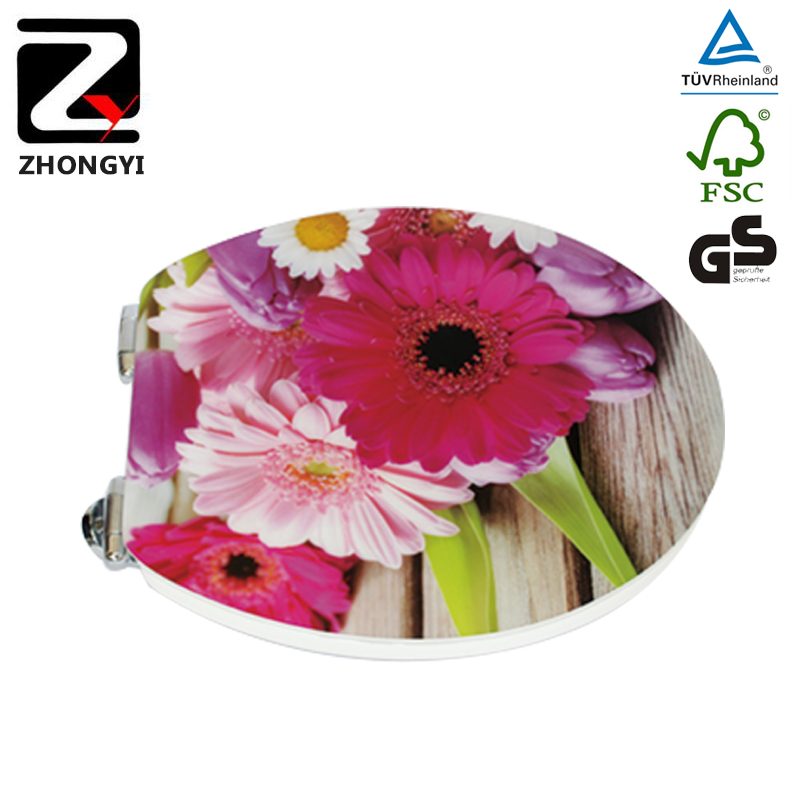 Colorful Flower Design Custom Made Toilet Seats