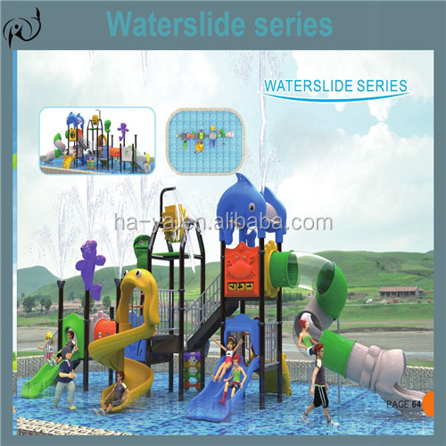 Used enjoyable plastic water series slides outdoor playground for sale
