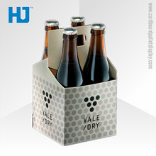 High quality 4 pack beer box, 4 bottle cardboard wine carrier
