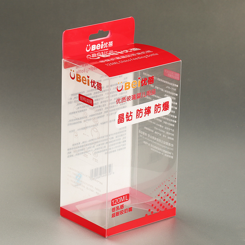 Custom clear PVC boxes with hanger cheapest clear PVC plastic box with free sample
