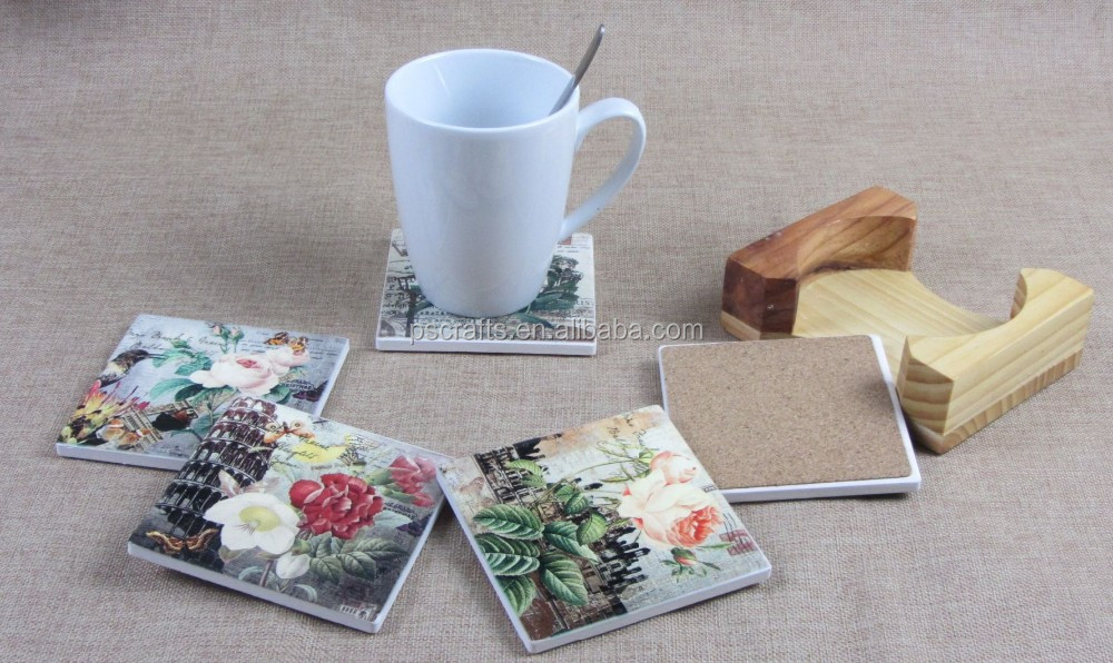 hot sell absorbent custom print coasters