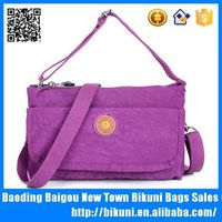 Women fashion nylon handbags cell phone purse with shoulder strap