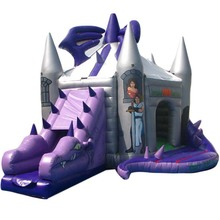 OEM customized 3D Dragon inflatable bouncer jumper/ jumping bouncy castle/ bounce house moon walker moonwalk trampoline slide