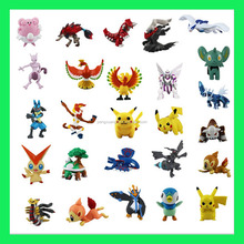 Hot Sale Random Delivery Brand New 2016 Cute 24pcs a Set Pokemon Monster Mini action figure Toys 2-3cm Cartoon Xmas Kids Gift