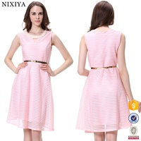 Cool Hot Pink Dress Wholesale women's clothing plus size Summer dress