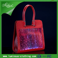 2015 RGB LED Light Woman Handbags LED Clothes Light / Luminous Evening Handbag / Lighted Up Clothing Costumes Factory