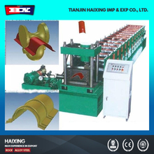 China suppliers portable Steel roof tile ridge cap cold roll forming machine