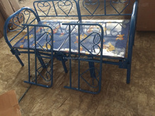 beautiful metal folding single bed with four sides rail