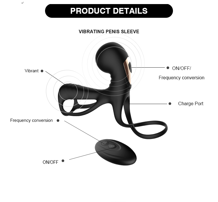 Sex Toys Vibrating Penis Double Cock Ball Ring For Men