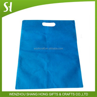 Blue non woven promotional bag and foldable shopping bag