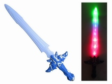 new quality ABS flash plastic cheap toy swords for kids with 7P