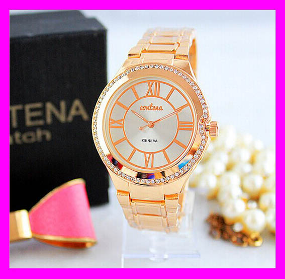 New hot sale fashion stainless steel back water resistant geneva watch H4339