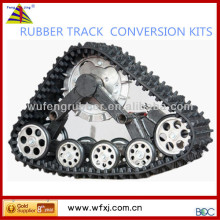 Go cart rubber track conversion kits for all-terrain vehicles