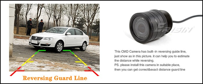 Erisin ES288 HD 7 LED Night Vision Car Reverse Camera Parking System